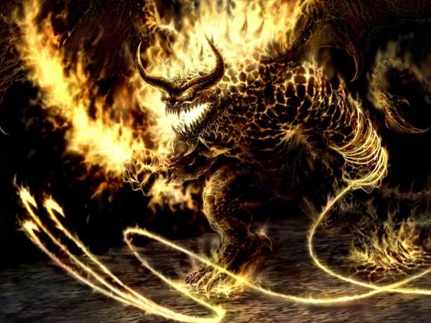 Criatura de fogo e trevas
