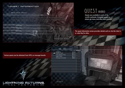 LR FFXIII - Quest Slide