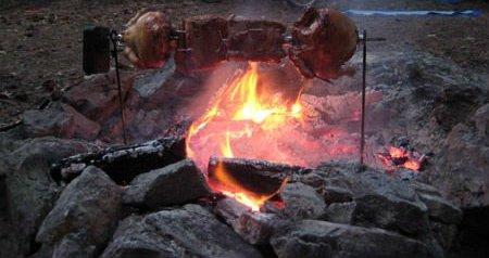 Caça na fogueira