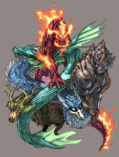 Elemental de Seis Cabeças