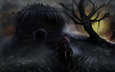 Sombra e cabana