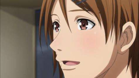 Riko emocionada Hyuga-Teppei